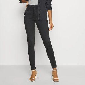Levi's Mile High Super Skinny Black Jeans